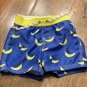 Baby Gap Banana Swim Trunks 12-18 Months Shorts